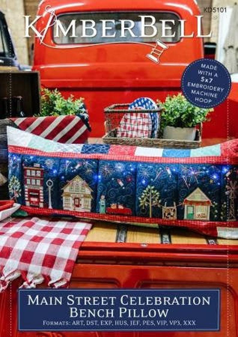 Machine Embroidery CD Main Street Celebration Bench Pillow