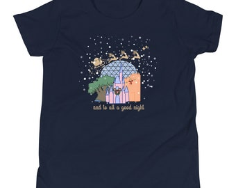 Christmas at Walt Disney World with Santa Youth Short Sleeve T-Shirt