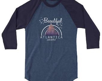 Little Mermaid Raglan, Beautiful Atlantica, Triton's Castle, Disney Shirt, Under the Sea, Disney Castle, Kingdom Hearts, Adult Disney