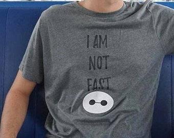 Not Fast Baymax, Baymax t shirt, Big Hero 6 tee, Disney tee, Pixar Tee, I am not fast, Baymax shirt, Disney Family Shirts