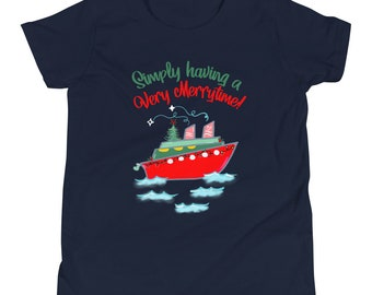 Very Merrytime Kids T-Shirt Disney Cruise DCL Disney Chrsitmas Cruise Kids T-Shirt