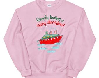 Very Merrytime Sweatshirt Disney Cruise DCL Disney Chrsitmas Cruise Unisex Sweatshirt