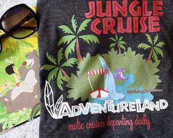 Jungle Cruise Vintage Travel Poster Disney T-Shirt, Walt Disney World, Disney Family Shirt