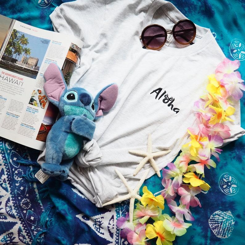 be791502 Disney Aulani Shirt Aloha Embroidered Hawaiian Mickey | Etsy