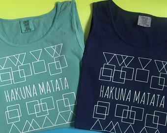 Hakuna Matata Tank Top, Lion King Tank Top, No Worries, Disney Lifestyle, Lion King, Hakuna Matata, Animal Kingdom, Comfort Colors Tank Top