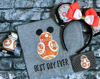 Kids BB8 Shirt, Unisex Kids Shirt, Best Day Ever, Disney Family Shirts, Kids Star Wars shirt, Star Wars Family Shirt, Disney World Shirts