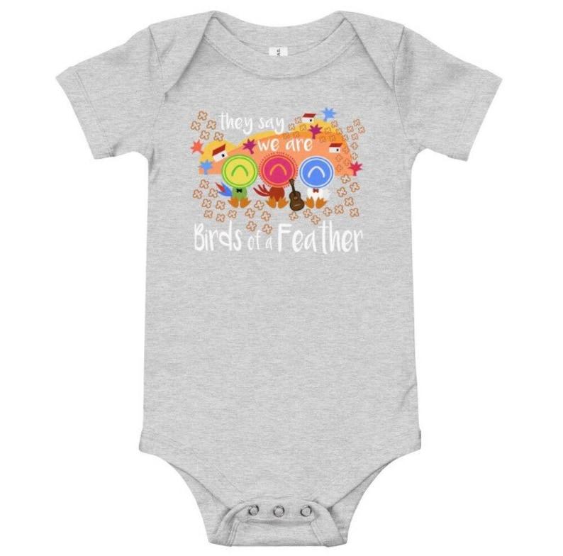 Three Caballeros Birds of a Feather Baby short sleeve one piece Disney Baby Bodysuit