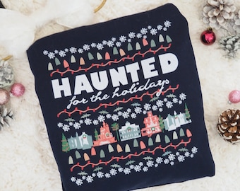 Haunted Mansion Christmas T-Shirt Disney Parks Haunted for the Holidays Disney T-Shirt