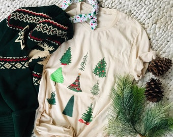 Mickey Christmas Tree Short-Sleeve Unisex T-Shirt