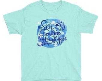 Moana Kids Shirt,Disney Moana Shirts, Kids Disney Shirt, Summer Vacation,  Disney Cruise Shirts,  The Sea is Calling and I Must Go,