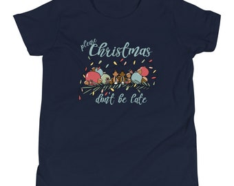 Chip and Dale Christmas Kids T-Shirt Please Christmas Don't Be Late Chipmunk Song Kids T-shirt