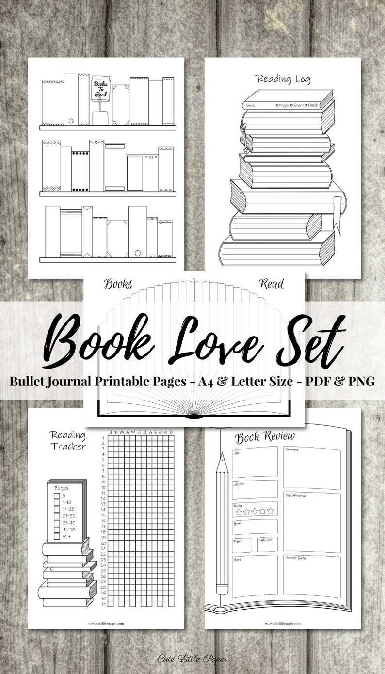 Bullet Journal Book Set  books to read reading tracker image 0