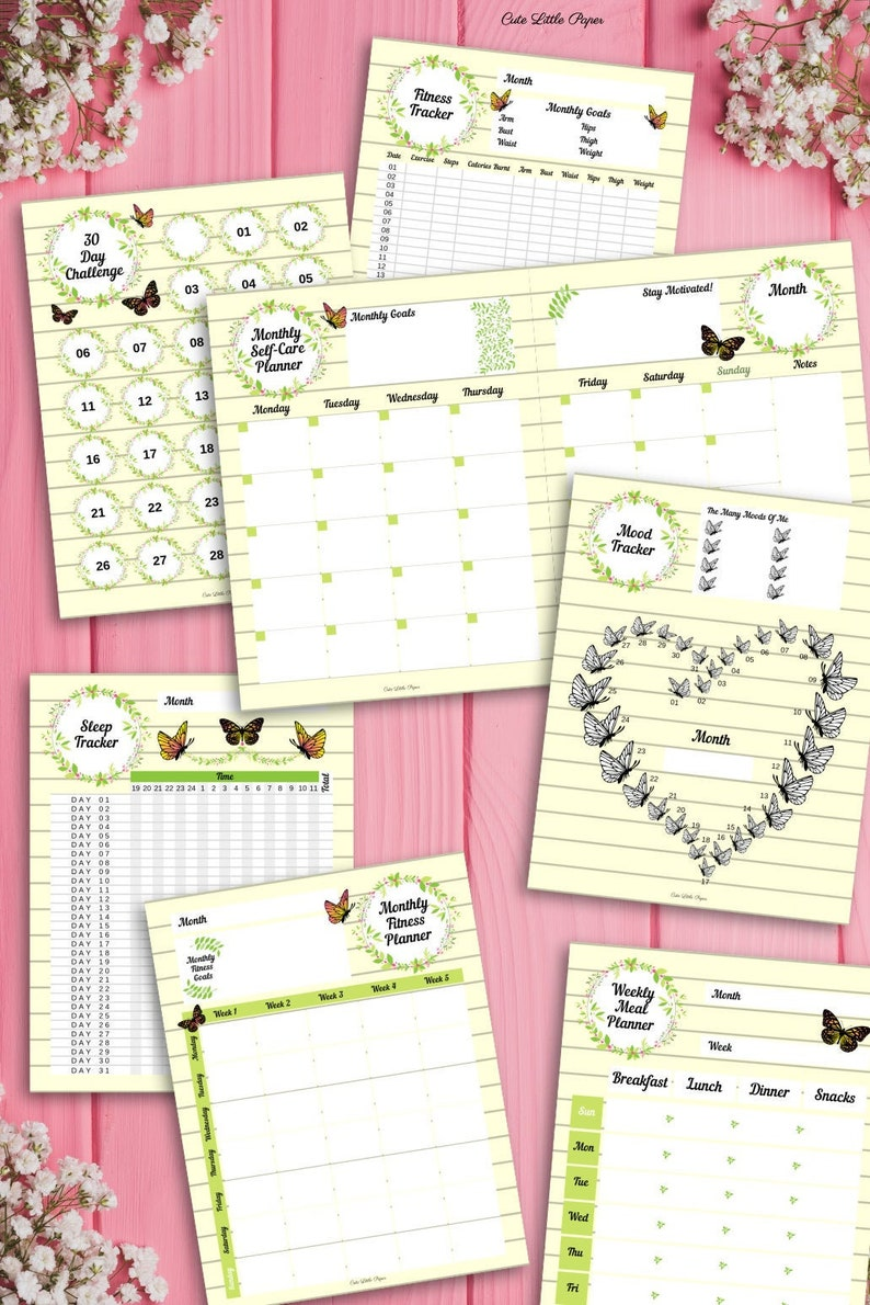 Self-Care Planner and Journal 61 pages self-care fitness image 0