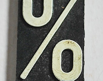 Rare Vintage Business Lobby Office Directory Sign Metal Letter % Percentage  Made In Germany