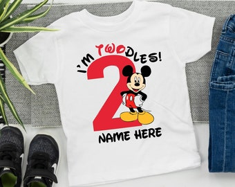 Disney Inspired Birthday Shirt Mickey Boy Party Mouse Theme