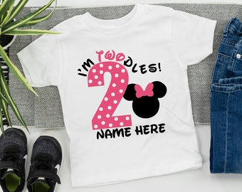 c9a1c399e Disney inspired Minnie Mouse birthday shirt, pink polka dot white tshirt  with custom name, Minnie Mouse birthday party