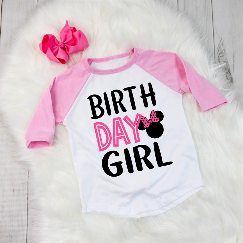 85f35a8b1e5 Disney inspired Minnie Mouse birthday shirt birthday outfit