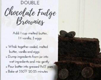 Double Chocolate Fudge Brownie Mix