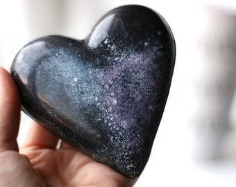 Belgian Chocolate Galaxy Heart