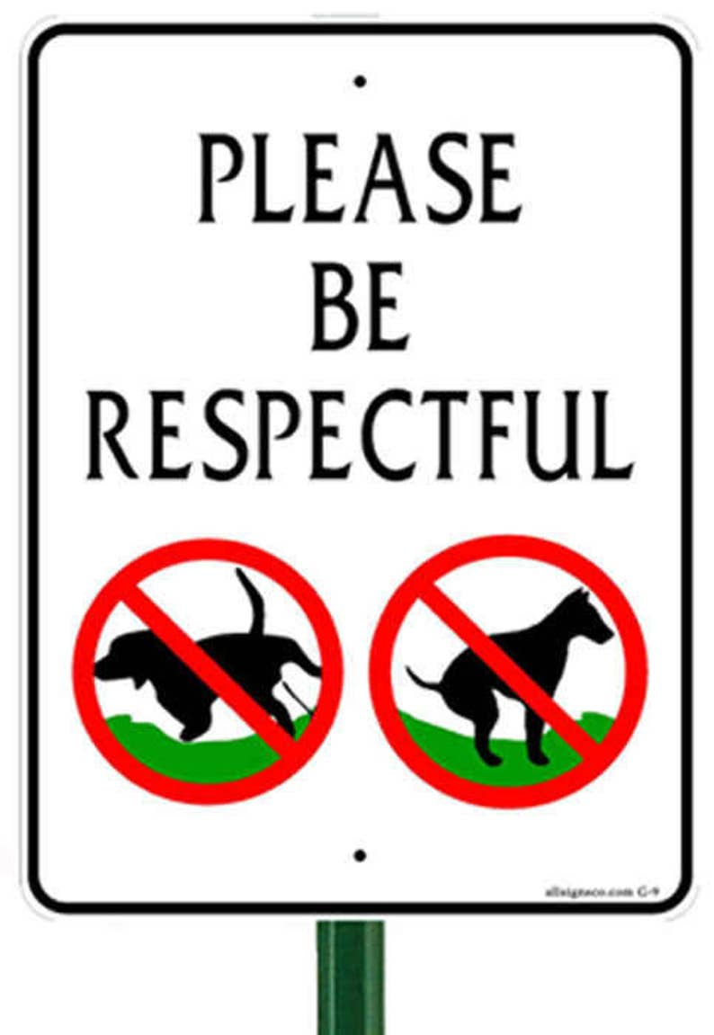 Pet Free LAWN Signs and Stake | 12