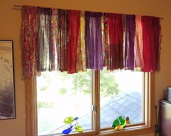 boho window treatments bohemian boho valances curtains etsy