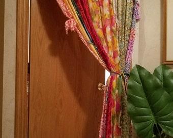 Boho Door Curtains Bohemian Curtains Scarf Curtains Hippie Door Curtains  Boho Curtains Gypsy Curtains Closet Door