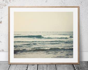 Printable Ocean Photography, Coastal Art, Beach Decor, Waves, Beach Photography