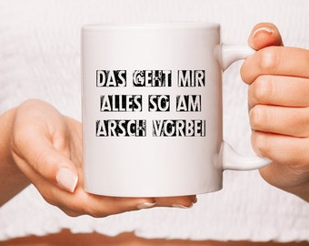 Pottery Cup-that's all my ass past coffee mug gift idea