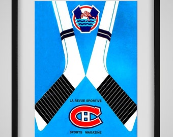 1969-1970 Vintage Montreal Canadiens Hockey Program - Digital Reproduction - Print or Matted or Framed