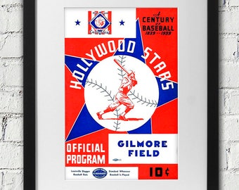 1939 Vintage Hollywood Stars Program Cover - Gilmore Field - Digital Reproduction - Print or Matted or Framed