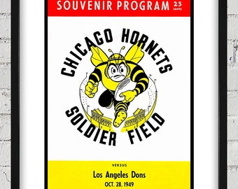 1949 Vintage Los Angeles Dons - Chicago Hornets - Football Program Cover - Digital Reproduction - Print or Matted or Framed