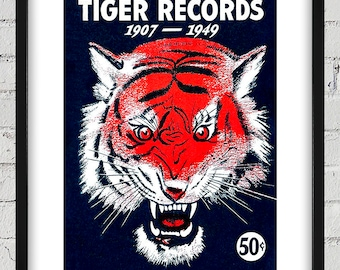 1949 Vintage Detroit Tigers Baseball Records Cover - Digital Reproduction - Print or Matted or Framed