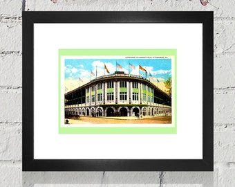 1920's Vintage Pittsburgh Pirates - Forbes Field Entrance Postcard - Digital Reproduction - Print or Matted or Framed