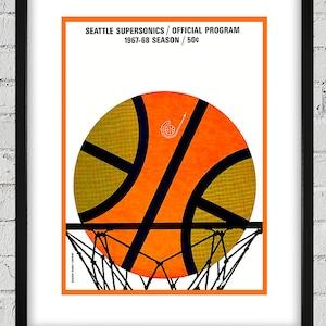 1968 Vintage Basketball UCLA Bruins 11 x 14 #BK004 Washington State Program Canvas Gallery Wrap