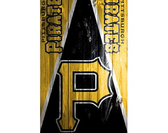 quality design 02fbf 287d6 Please Read The Item Details - CUSTOM VINYL Cornhole Board DECAL   1 -  Pittsburgh Pirates Triangle Wood Bag Game Sticker