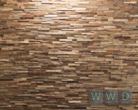 Parete di legno antico pannello piastrelle legno spazzolato etsy