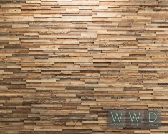 Parete in legno rivestimento pannello piastrelle legno antico etsy