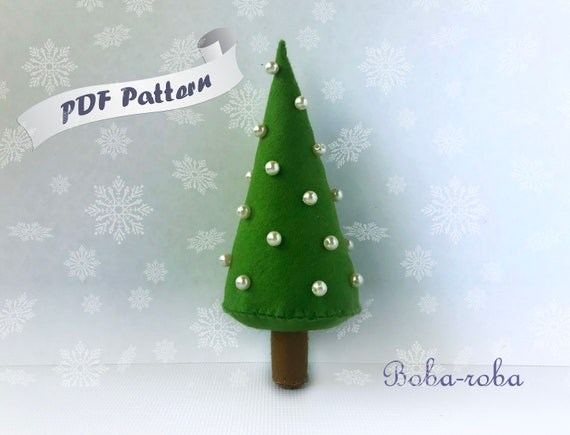Felt Christmas Tree Pattern.Felt Christmas Tree Pattern Pdf Christmas Easy Pattern Diy Tutorial Easy Pattern Felt Christmas Ornament Spruce Sewing Christmas Gift