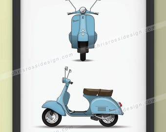 Piaggio Vespa Print (selection of colours)