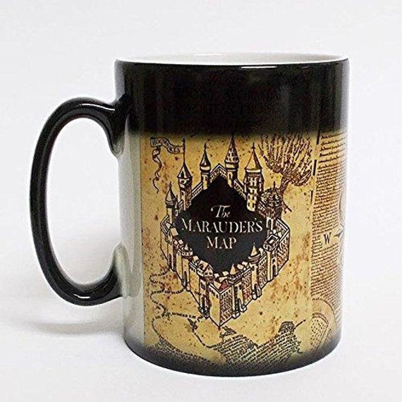 Harry Potter Inspired Marauders Map Morphing Mug Color Changing 11 Oz Ceramic Mug by Etsy