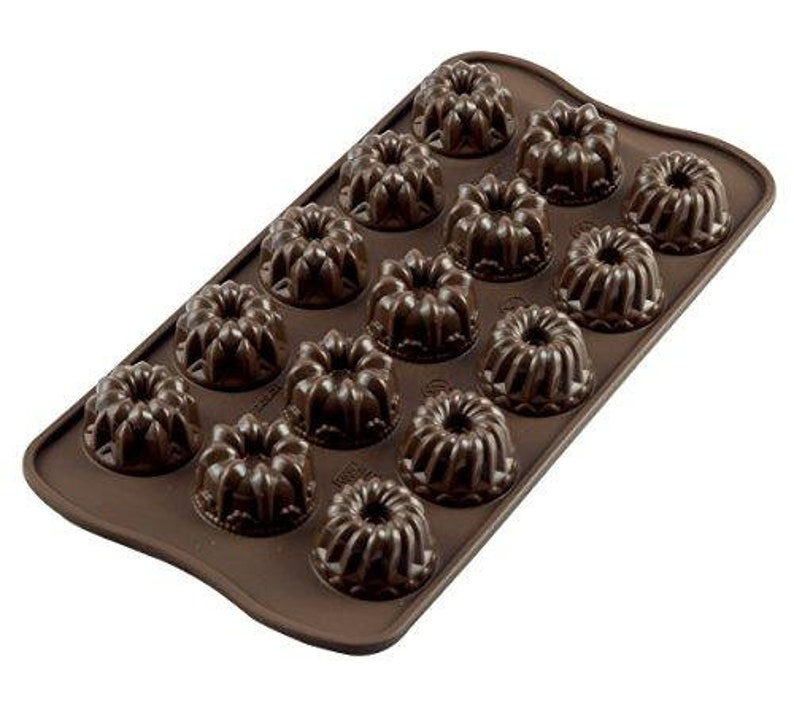 Silicone Chocolate Mould Fantasy, Brown