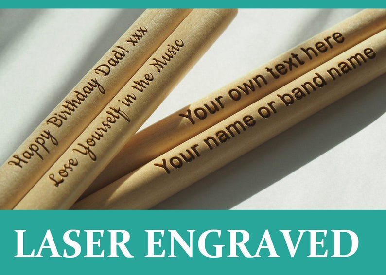 Personalised drum sticks 5A high quality maple wood great image 0
