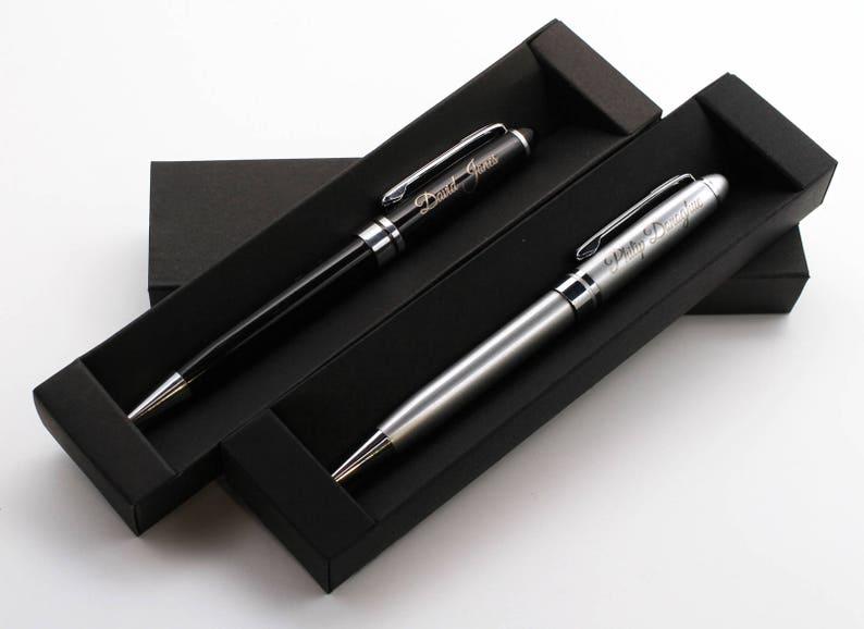 Personalised Premium Metal Pen Gift Box Custom Bespoke Laser Engraved