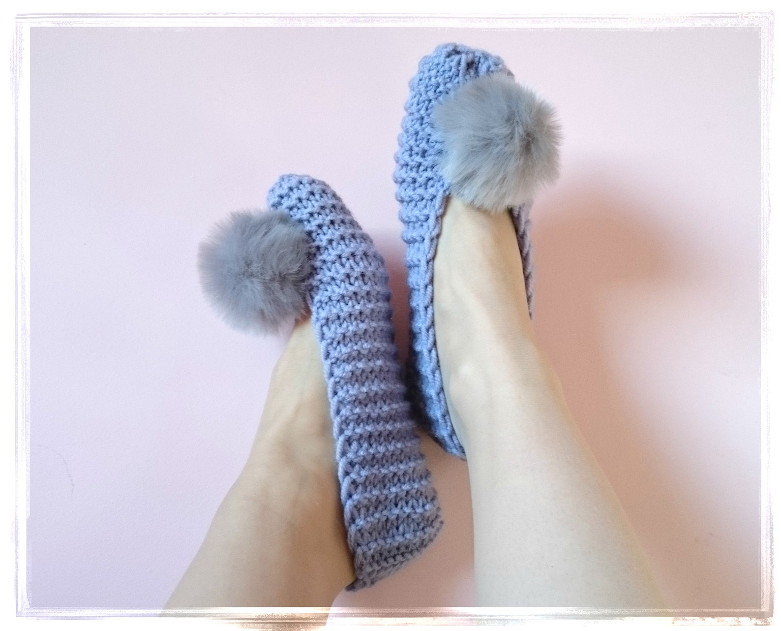 slippers, women leg warmers, pom pom slippers, alpaca wool socks, room shoes, knitted slippers, purple ballets, furry slipper so