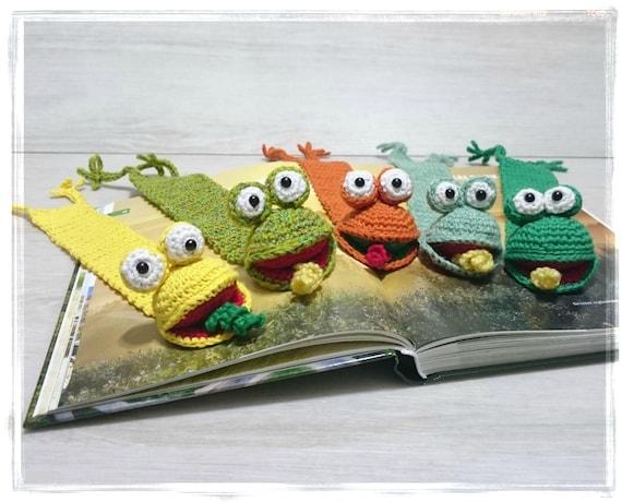 Frosch Lesezeichen Häkeln Lesezeichen Amigurumi Lesezeichen Etsy