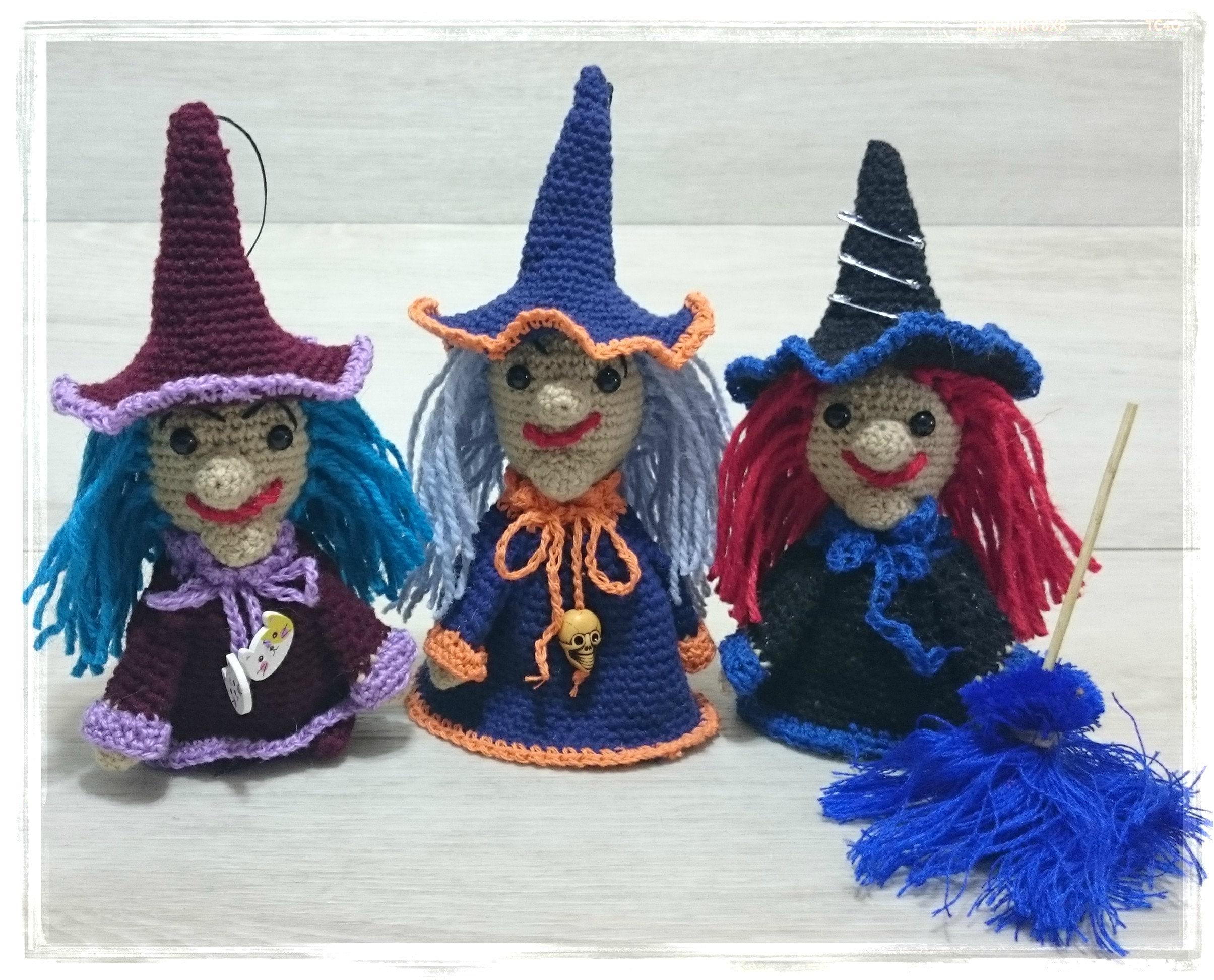 Küche Hexe Puppe hängen von Hand gestrickt Spielzeug | Etsy