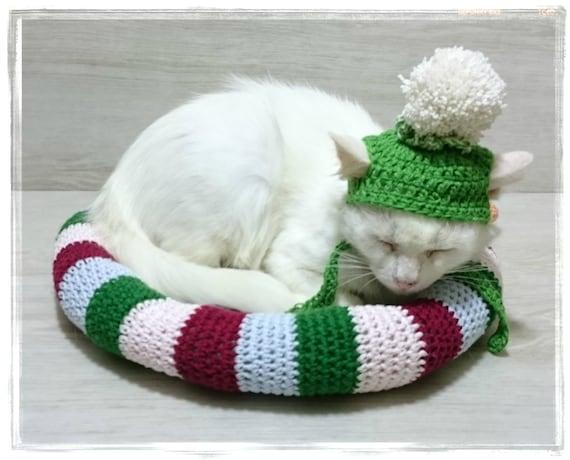 Snake Kat Bed Haak Kitten Deken Mat Puppy Dekbed Slapen Plaats Etsy