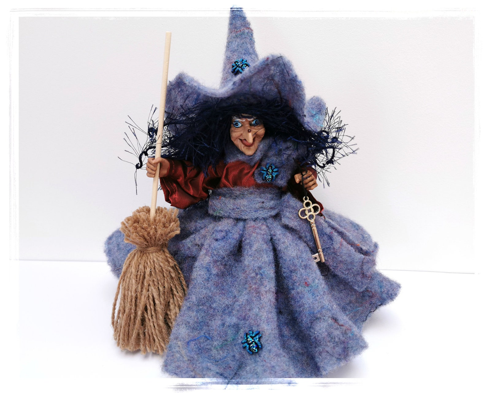 Witch Arabella, Felt Kitchen Witch, Kitchen Witch Doll,
