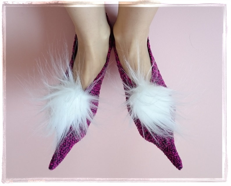 e506b7265069f Witches Slippers Purple women s slippers Pointed Toe flats