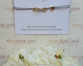 Maid Of Honour Bracelet, Maid Of Honour Gift, Wedding Gift, Thank You Gift,